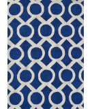 RugStudio presents The Rug Market America Pop Accents Medal Navy/White Hand-Hooked Area Rug